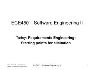 ECE450 – Software Engineering II