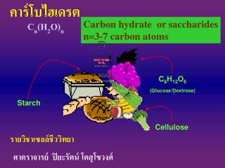 Carbon hydrate  or saccharides n=3-7 carbon atoms