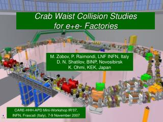 Crab Waist Collision Studies for e+e- Factories