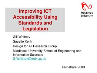 Improving ICT Accessibility Using Standards and Legislation