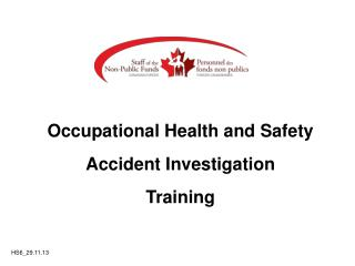 Occupational Health and Safety Accident Investigation Training