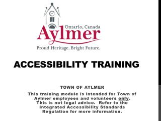 ACCESSIBILITY TRAINING