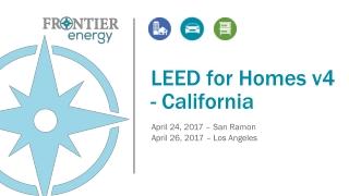 LEED for Homes v4 - California