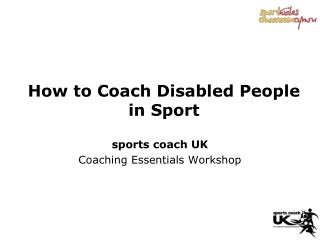 How to Coach Disabled People in Sport