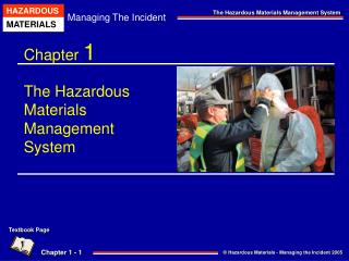 Chapter  1 The Hazardous Materials  Management  System