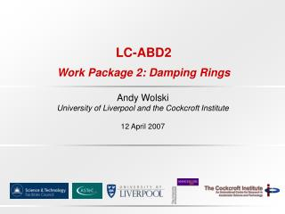 LC-ABD2 Work Package 2: Damping Rings