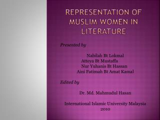 Representation of Muslim Women in Literature