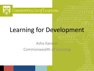 Learning for Development