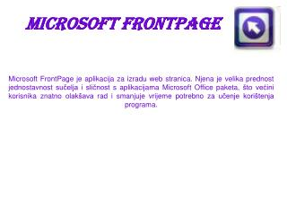 Microsoft FrontPage