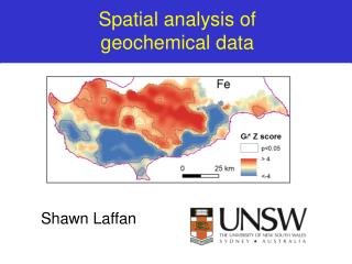 Spatial analysis of  geochemical data