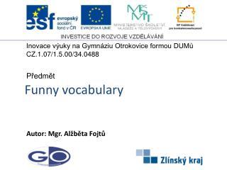 Funny vocabulary