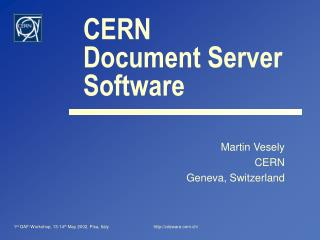 CERN Document Server  Software