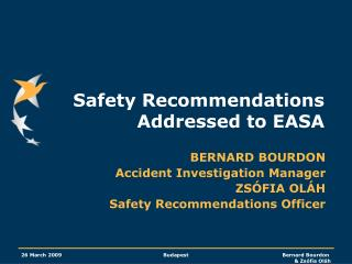 Safety Recommendations Addressed to EASA