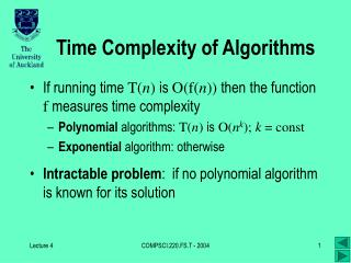 Time Complexity of Algorithms