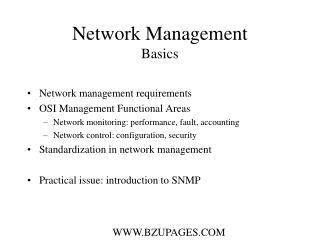 Network Management Basics