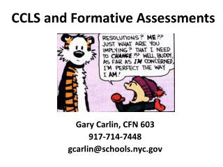 CCLS and Formative Assessments