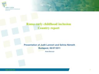 Roma early childhood inclusion Country report