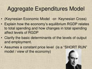Aggregate Expenditures Model