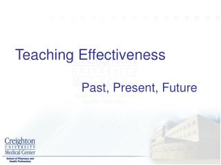 Teaching Effectiveness