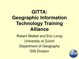GITTA: Geographic Information Technology Training Alliance
