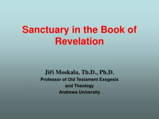 Sanctuary in the Book of Revelation