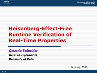 Heisenberg-Effect-Free Runtime Verification of Real-Time Properties
