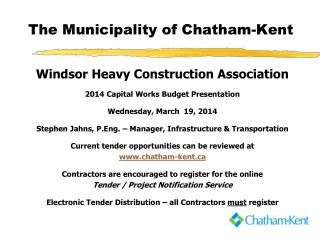 The Municipality of Chatham-Kent