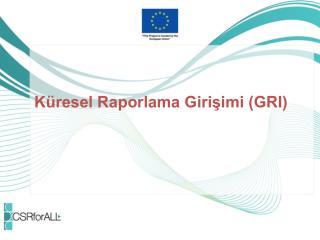 Küresel Raporlama Girişimi (GRI)