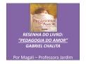 RESENHA DO LIVRO:  PEDAGOGIA DO AMOR  GABRIEL CHALITA   Por Magali   Professora Jardim