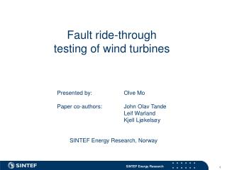 Fault ride-through  testing of wind turbines