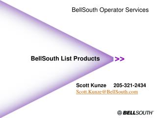 BellSouth List Products