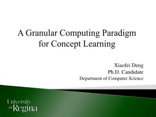 A Granular Computing Paradigm for Concept Learning