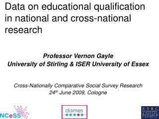 Data on educational qualification in national and cross-national research
