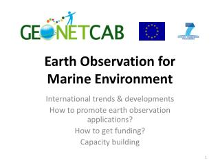 Earth Observation for  Marine Environment