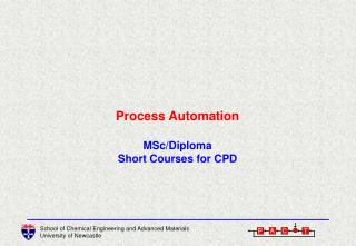 Process Automation MSc/Diploma Short Courses for CPD