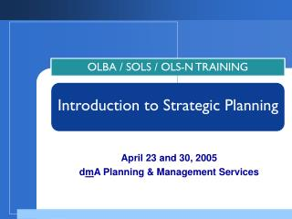 Introduction to Strategic Planning