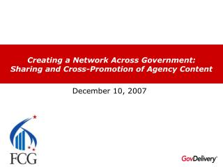Creating a Network Across Government: Sharing and Cross-Promotion of Agency Content