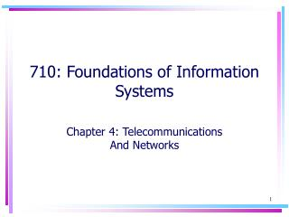 710: Foundations of Information Systems