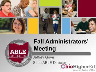 Fall Administrators' Meeting