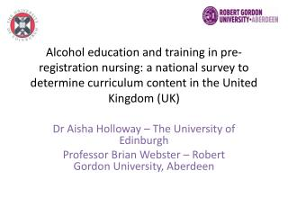 Dr Aisha Holloway – The University of Edinburgh