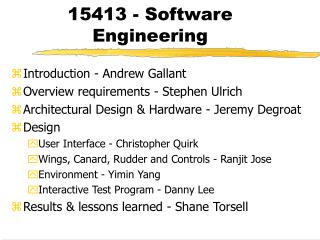15413 - Software Engineering