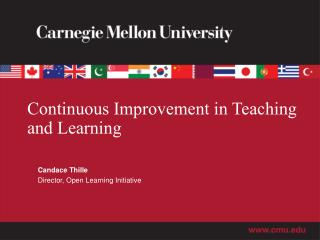 Continuous Improvement in Teaching and Learning