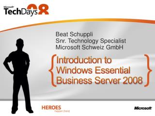 Introduction to Windows Essential Business Server 2008