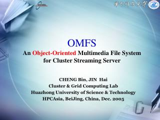 OMFS An Object-Oriented Multimedia File System for Cluster Streaming Server