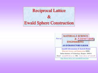 Reciprocal Lattice & Ewald Sphere Construction