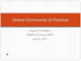 Online Community of Practice