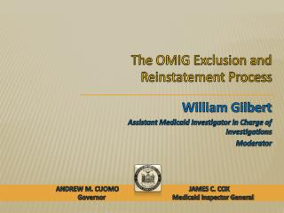 The OMIG Exclusion and Reinstatement Process