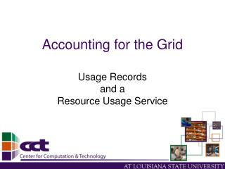 Accounting for the Grid