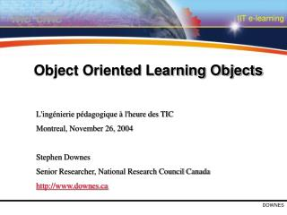 Object Oriented Learning Objects