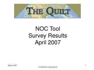 NOC Tool  Survey Results April 2007